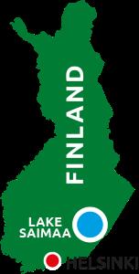 Finland map Lake Saimaa Savonlinna Mikkeli