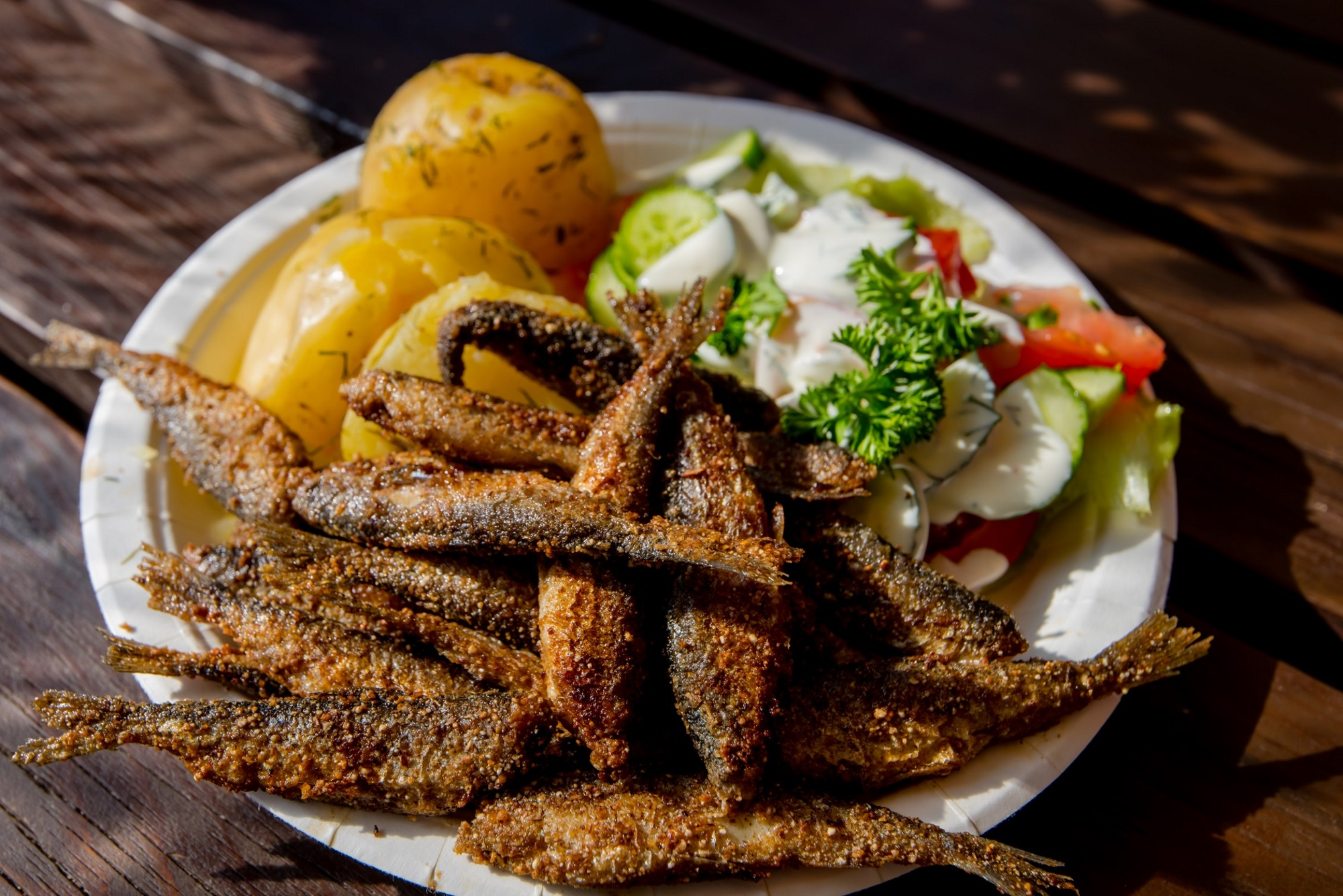 Finland travel finnish fast food fried vendace visit for Fast food fish