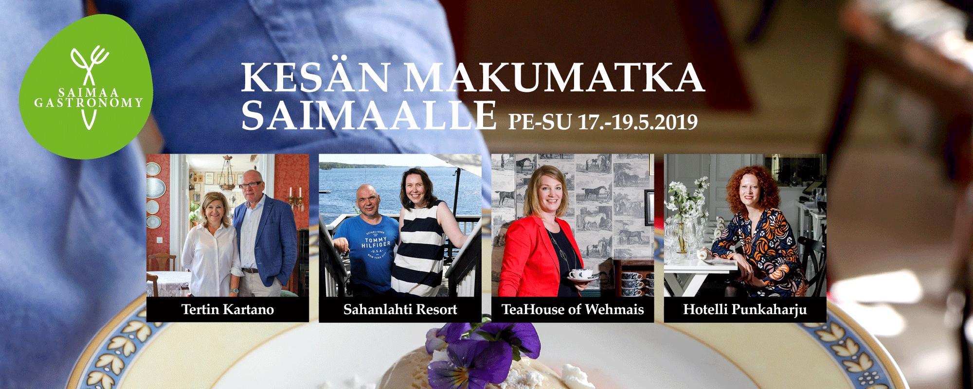 Kesän makumatka Saimaalle pe-su 17.-19.5.2019