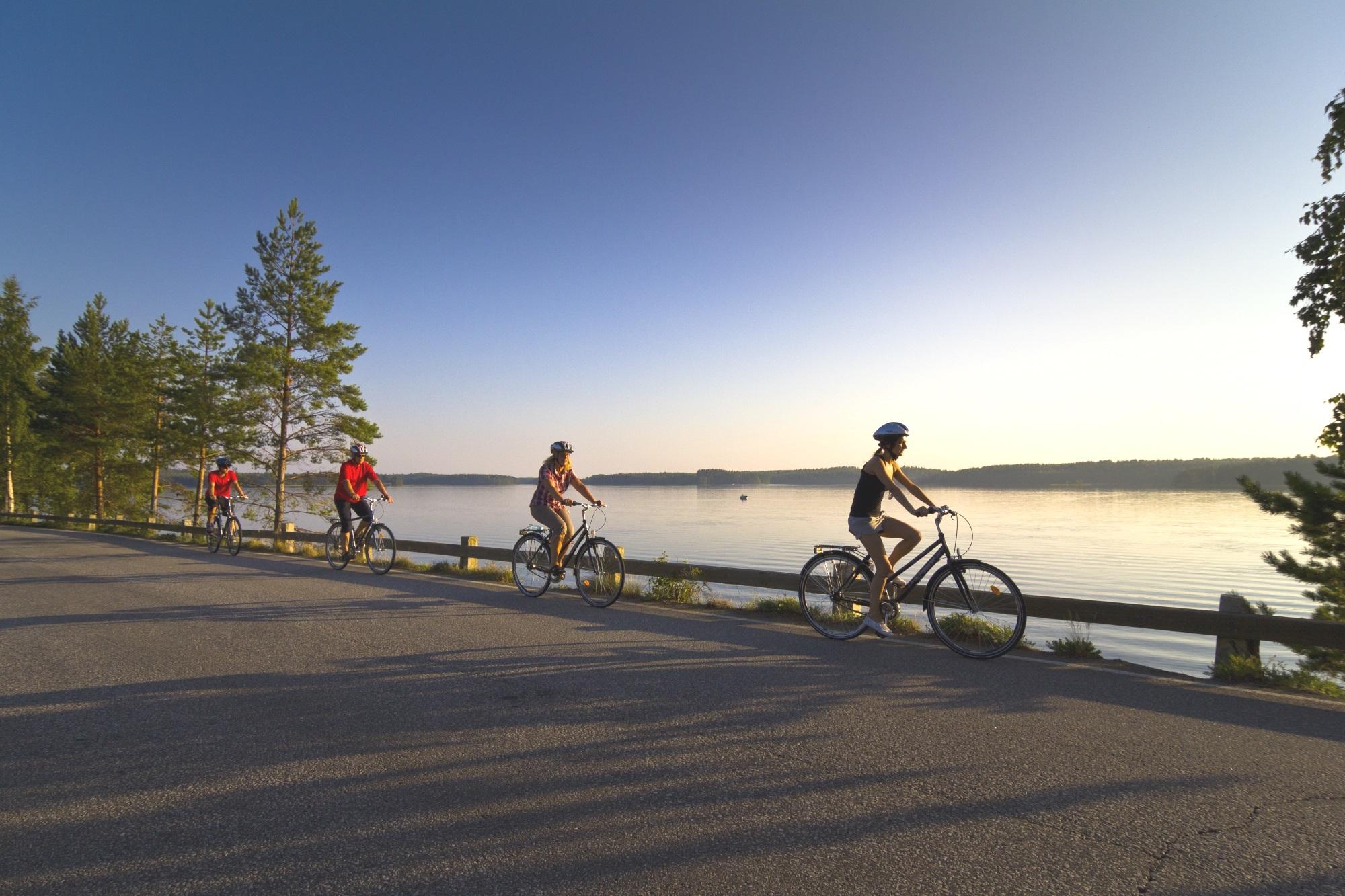 Pyöräily Saimaalla
