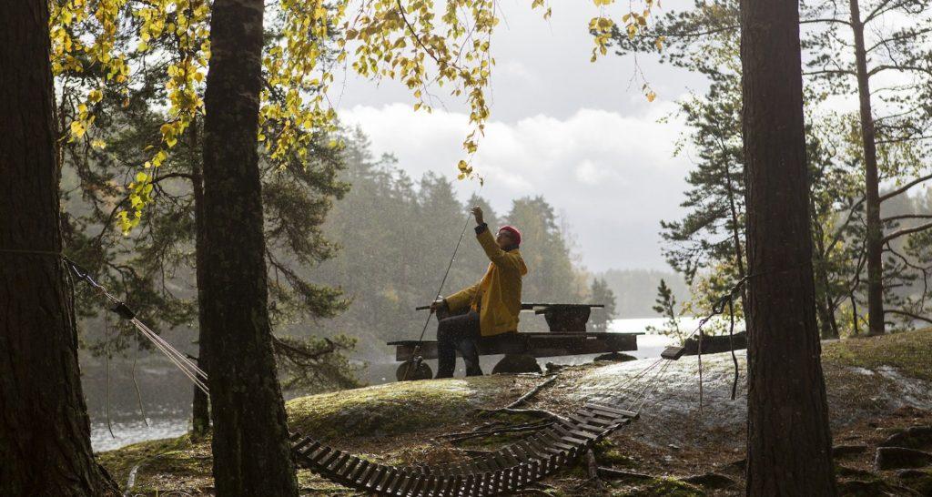 fisherman rain