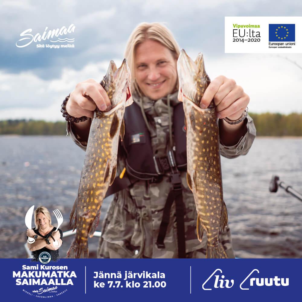 Sami Kuronen ja jännä järvikala.