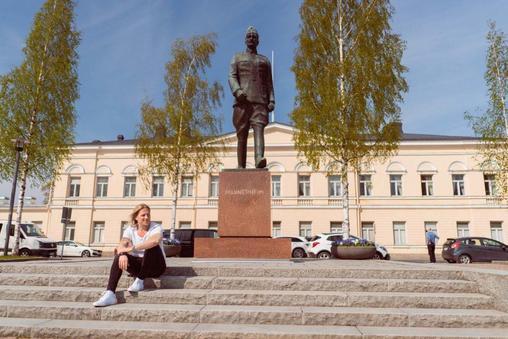 Sami Kuronen Mikkelin torilla.