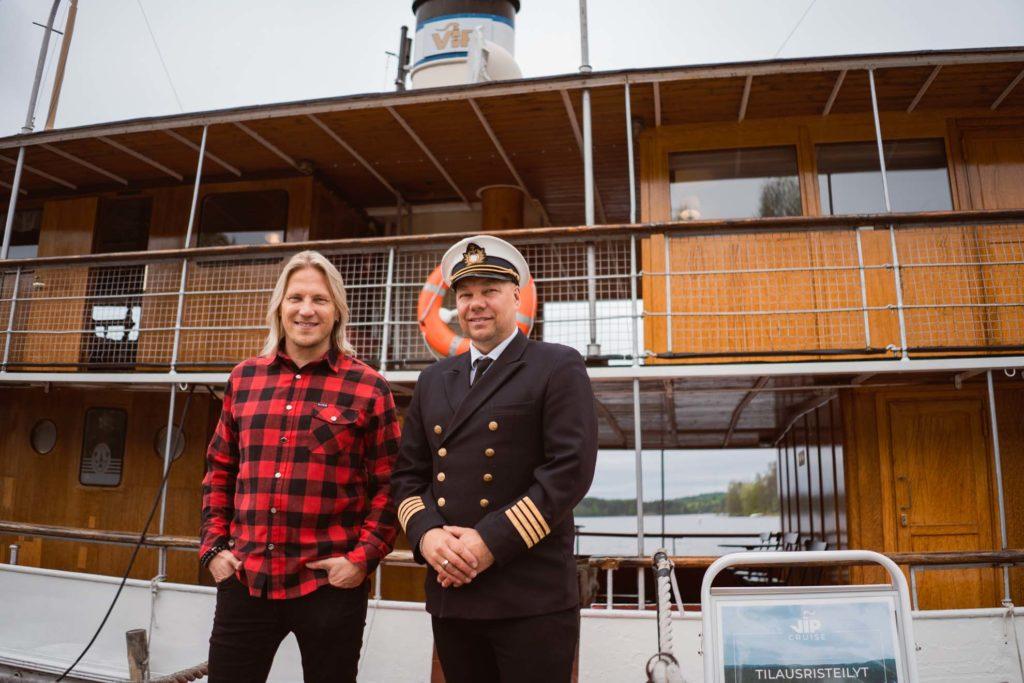 Sami Kuronen sekä Janne Leinonen VIP Cruisesta.